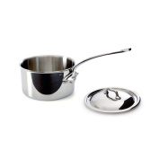 Mauviel M'Cook 5 Ply Stainless Steel 5210.17 1.8l Saucepan with Lid, Cast Stainless Steel Handle