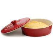 RSVP Red Stoneware Tortilla Warmer