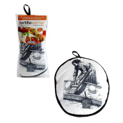 Tortilla Warmer 30cm - Insulated Fabric Pouch by Camerons - Keeps warm for one hour after just 45 microwave seconds