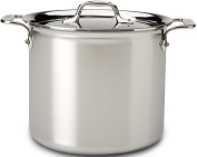 All Clad 4507 Stainless Steel Tri-Ply Bonded Dishwasher Safe Stockpot with Lid / Cookware, Silver