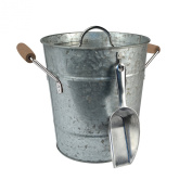 Artland Oasis Distressed Galvanised Steel Ice Bucket and Scoop