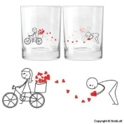 """BoldLoft """"All My Love for You"""" Drinking Glass Anniversary Gifts for Couples,Wedding Gifts for Him & Her,Valentine's Day Gifts,Christmas Gifts for Him & Her"""