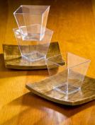 Elegant Square Mini Cube 60ml Clear Tasting / Sample Shot Glasses 40 Ct Dessert Cups