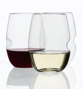 GoVino Wine Glass Flexible Shatterproof Recyclable- 350ml, Set of 12