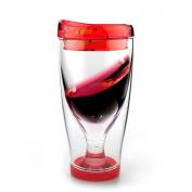 Asobu Ice Vino 2 Go Insulated Wine Tumbler, 300ml, Red