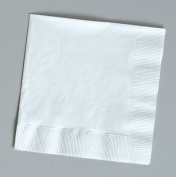 100 gorgeous White beverage/cocktail napkins for wedding/party/event, 2ply, disposable, 13cm x 13cm , Made in USA