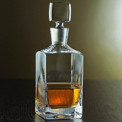 Denizli Spirits Old-Fashioned Whiskey Bottle Handmade Crystal Decanter 1040ml - Lead Free