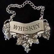 Embossed Pewter Liquor Bottle or Decanter Label Whiskey