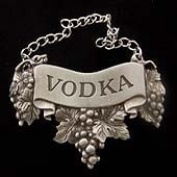 Embossed Pewter Liquor Bottle or Decanter Label