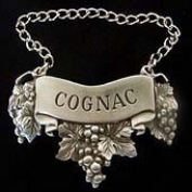 Embossed Pewter Liquor Bottle or Decanter Label Cognac