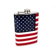 240ml Stitched American Flag Flask