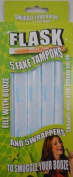 Booze Tubes 5 Tampon Flask Test Tubes with 5 Wrappers, 30ml