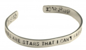 The Fault in Our Stars Bracelet - My Thoughts Are Stars - 0.6cm Aluminium Cuff