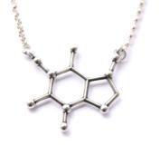 Sterling Silver Caffeine Molecule Cast Necklace