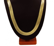 14k Gold Plated 11mm 30inch Herringbone Chain Necklace