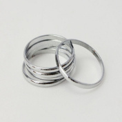 2014 Susenstore 5pcs Urban Silver Stack Plain Cute Above Knuckle Ring Band Midi Ring Set