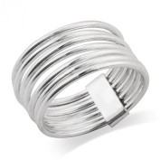 925 Sterling Silver 7 Day 7 Band Stacked Ring