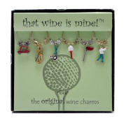 Wine Things WT-1407P Fore Wine Charms, Painted