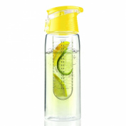 Asobu Flavour It Infuser Water Bottle Pure Fruit Flavour 2 Go, Yellow