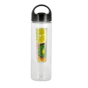 Tritan plastic outdoor sports bottle lemon water glass artefact creative fruit cups Black