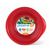 Preserve Everyday 470ml Bowl, Set of 4, Pepper Red