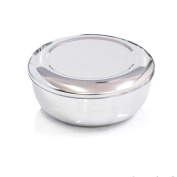 Korean Stainless Steel Rice Bowl + Lid Hygienic Sanitary Dish Kore Warm Bowl