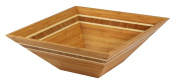 Totally Bamboo Square Inlay Salad Bowl, 30cm