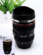 Mango Spot® Best Camera Lens Thermos Stainless Steel Cup/ Mug for Coffee or Tea