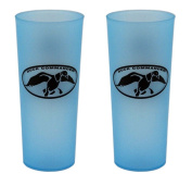 Set of 2 BLUE Duck Dynasty Duck Commander - Uncle Si Robertson iced tea cup glass
