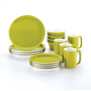 Rachael Ray Dinnerware Round and Square 16-Piece Dinnerware Set, Green