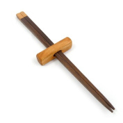 Handcrafted Wood Chopsticks and Holder, American Made, Natural Walnut with Cherry Wood Accent