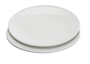 Nordic Ware Microwave Everyday Dinner Plates, Set of 4, White, 25cm