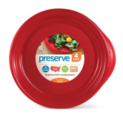 Preserve Everyday 24cm Plates, Set of 4, Pepper Red