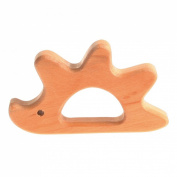 Grimm's Natural Wood European Baby Teether Grasping Toy, Hedgehog
