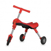 Fly Bike® Foldable Indoor/Outdoor Toddlers Glide Tricycle - No Assembly Required - Red