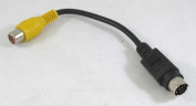 ANiceS S-Video 7-Pin TV to RCA AV Adapter Converter Cable 7.6cm