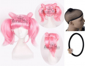 Free Hair Cap + for Kids for Adults Chibi Usa Cosplay Wig Cos Party Cosplay Convention Event