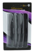 Black Heavy Pocket Combs 4-Pack 04
