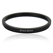 Kiwifotos SD 67-62mm Step-Down Metal Adapter Ring / 67mm Lens to 62 mm UV CPL Accessory