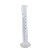100ML Plastic Transparent Blue Line Liquid Graduated Measuring Cylinder Lab Test Tube