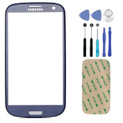Pebble Blue Screen Glass Lens for for for for for for for for for for for Samsung Galaxy S3 S III i9300 Replacement