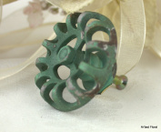 Sage Green Faucet Drawer Pull Knob ~ Wall Picture Hanger Button