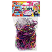 D.I.Y. Do it Yourself Bracelet Zupa Loomi Bandz 600 Rainbow Tie-Dye Rubber Bands with 'S' Clips