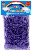 Colourful Loom Bands 600 PURPLE Rubber Bands with 'S' Clips