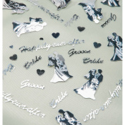 Darice VL84 Happily Ever After Bridal Confetti, 120ml, Silver