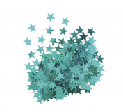 Metallic Teal Star Confetti
