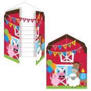 Farmhouse Fun Invitation (8) Invites Farm Animal Barnyard Party