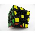 3D Gear Cube 1st Generation black Painted Sticker Twisty Puzzle