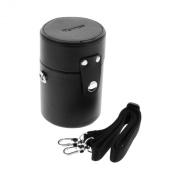 "Mennon LLC-MILC-65 Leather Camera Lens Case 65x120mm (2 1/2"" x 4 3/4"") for Large Mirrorless Camera Lens"