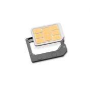 Sadapter 999765-SNCA Nano SIM to Micro SIM Card Adapter - Retail Packaging - Grey